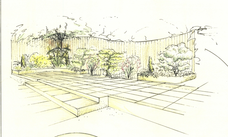 Perspective drawing from plan